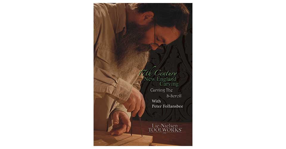 17th Century New England Carving: Carving the S-Scroll - DVD