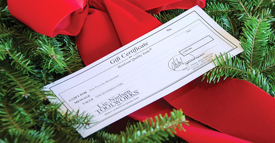 Mailed Gift Certificate