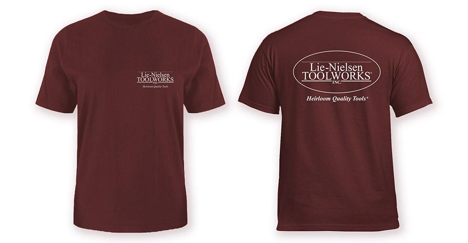 Lie-Nielsen T-Shirt - Maroon- S