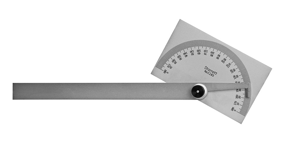 Protractor with Locking Blade